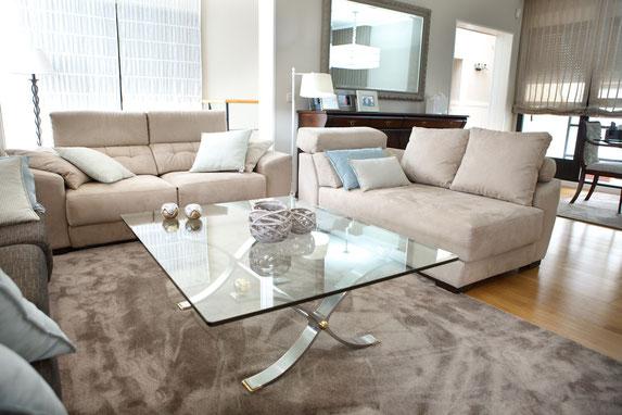 decoraci n salon y comedor tapidecor interiorismo y alfombras de salon - Alfombras Salon