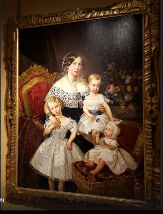 1849. Par Prosper RAFFY. LOUISE D'ARTOIS (1819 Paris + 1864 Venise), et 3 DE SES ENFANTS. SOEUR DU COMTE DE CHAMBORD, DUCHESSE DE PARME et MERE DE ROBERT Ier, DUC DE PARME, DE PLAISANCE et de GUASTALLA ( 1848 + 1907).