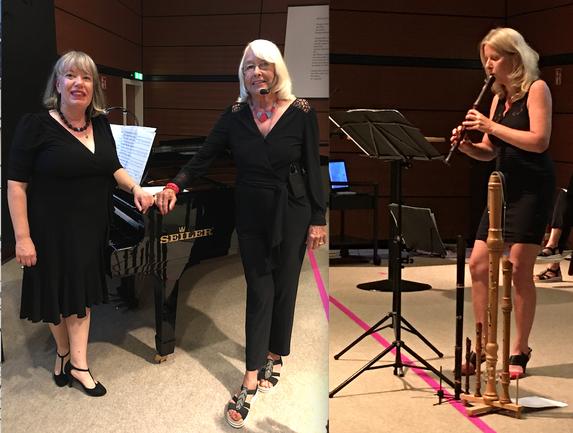 Brigitte Becker, Piano - Dorothea Paschen , Rezitation - Almut Werner , Blockflöten  GEDOK Heidelberg 2021
