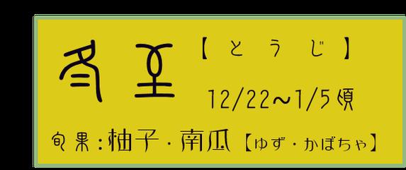 冬至【とうじ】アイコン 旬果:柚子・南瓜