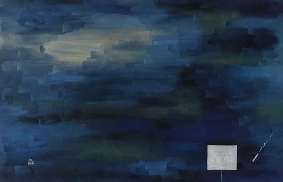 sinnen by dhin. 2018. oil on canvas. 90x60.