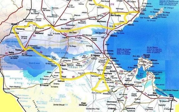 Tunie carte sud