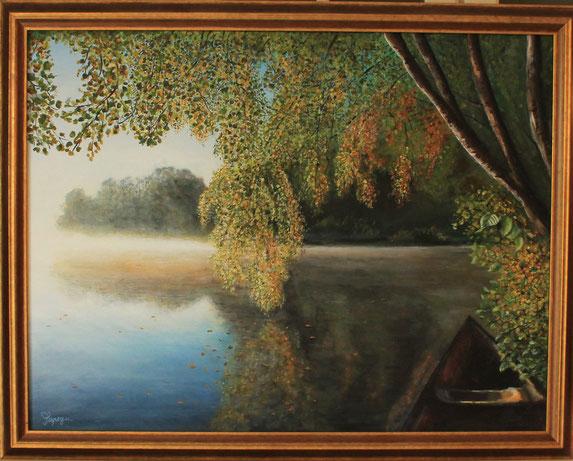 Ruhe und Frieden 60 x 80 cm Acryl auf Leinwand