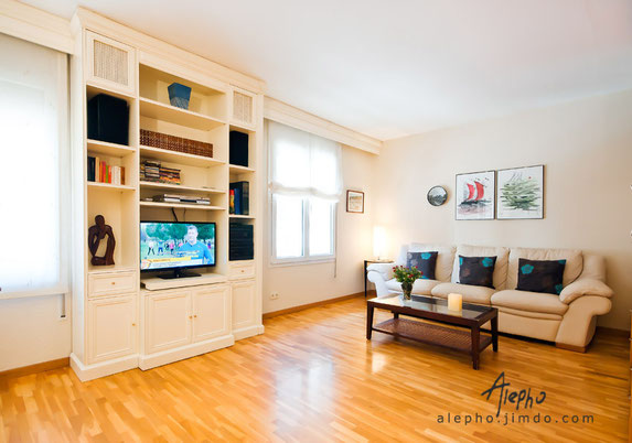 Fotografía de interiorismo. Apartamento turístico en Barcelona