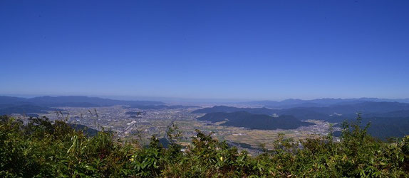 鯖江市・福井市方面の展望