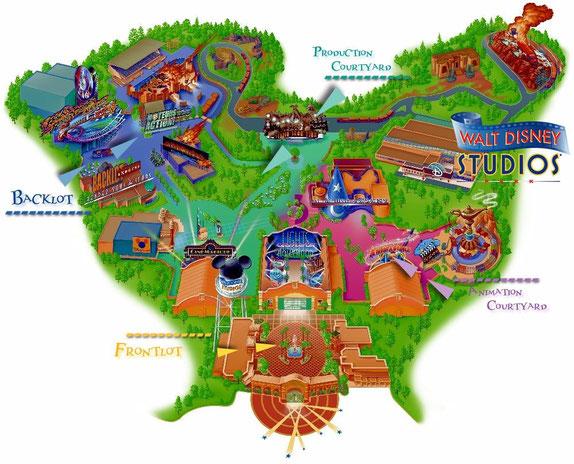 Plan du parc en 2002