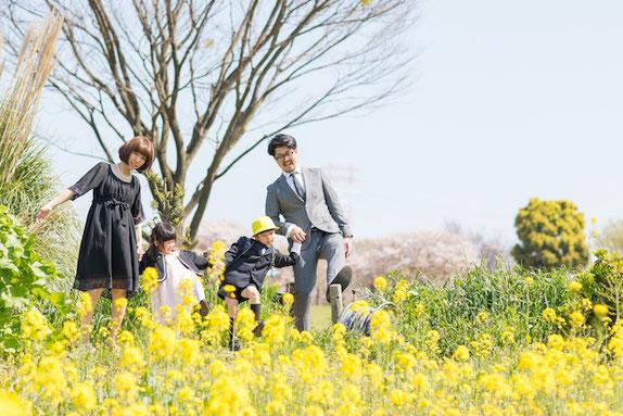 大島小松川公園 入学写真 公園フォト 出張撮影 女性カメラマン 子供