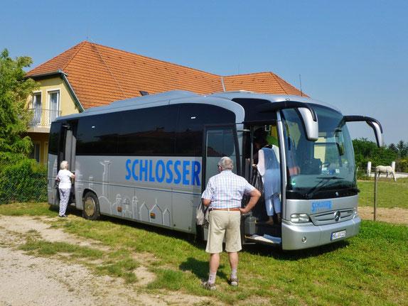 Unser Reisebus der Fa. Schlosser.