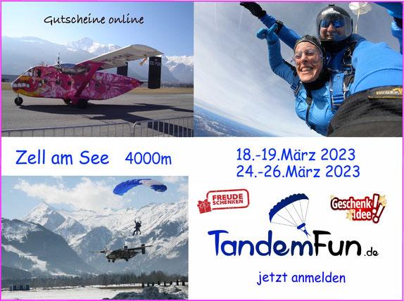 Fallschirmspringen Zell am See im März 2021