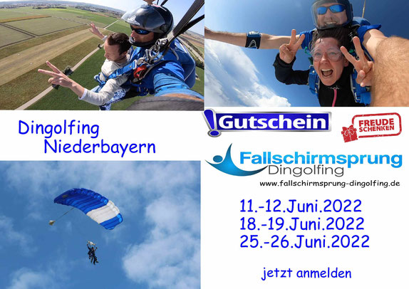 Fallschirmspringen Dingolfing Niederbayern - Termine Mai 2021