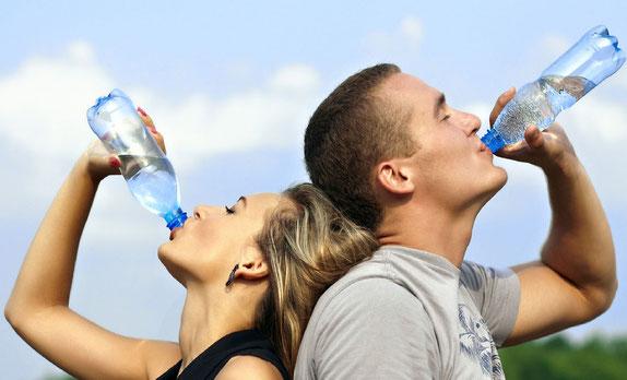 Trink ausreichend Wasser.
