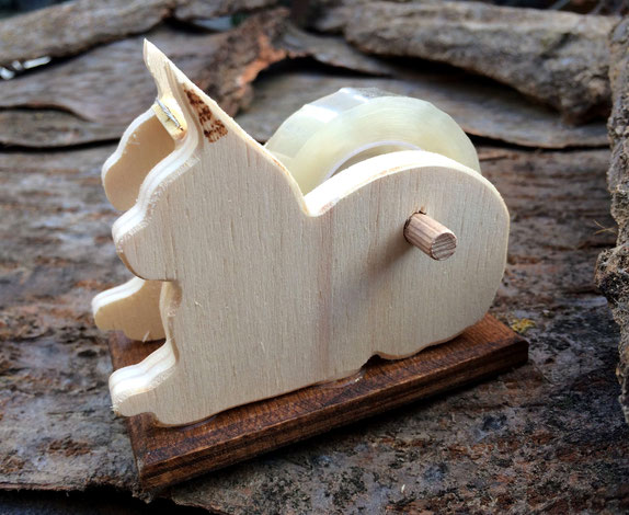 Porta nastro adesivo in legno