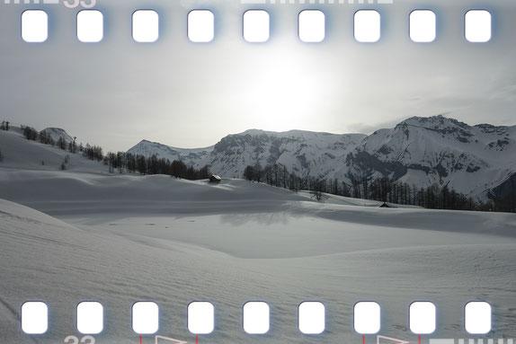 Skier dans les alpes du sud