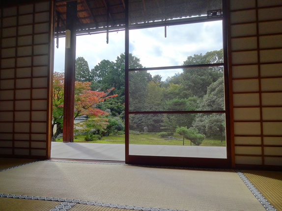 はじめて宿坊体験した京都「鹿王院」での一枚・・・昨年は10月末でまだ紅葉には早かったですが、今年ははじめて秋本番の京都に降り立てそうで、胸がときめいています。今年は何が待ち受けているのでしょう。(写真クリックで「鹿王院」での記事へ飛びます)