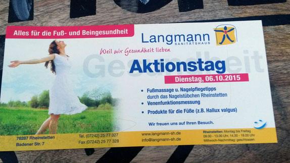 """Aktionstag """"Fuß- und Beingesundheit"""" Rheinstetten"""