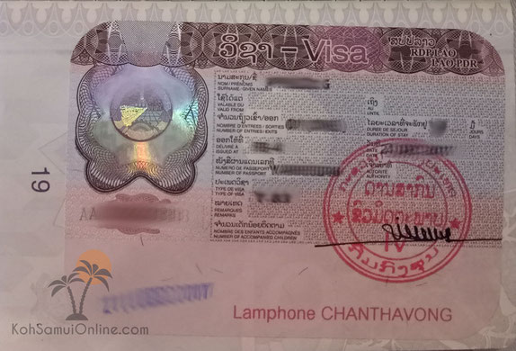 Laos Visa on arrival