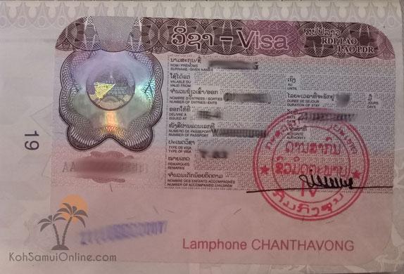 Laos Visa on arrival