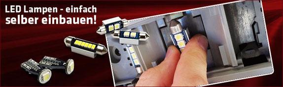 LED Innenraum Beleuchtung audi opel bmw mercedes skoda vw dacia kia