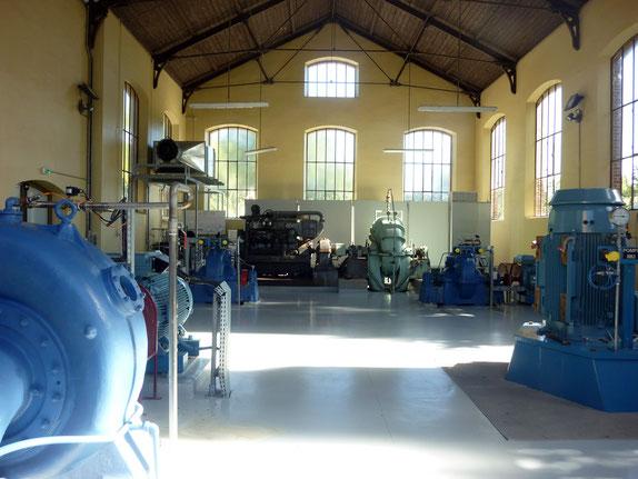 La salle des impressionnantes pompes électriques