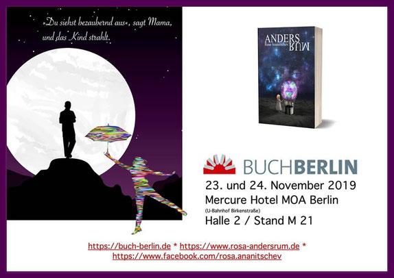 """Satzwerbung - aus dem Buch """"Andersrum"""" von Rosa Ananitschev - für BuchBerlin 2019"""