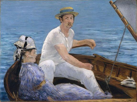 В лодке - самые известные картины Эдуарда Мане