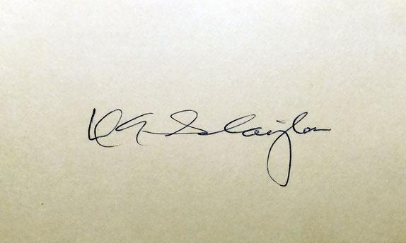 Autogtraph Deke Slayton Autogramm