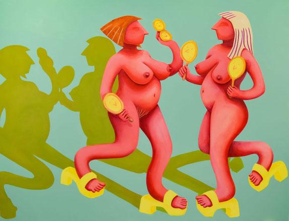 Reflections, 2020, Acryl auf Leinwand, 200x 250 cm