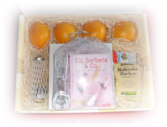 Rezeptbox Orangen-Eis - Preis 29,95 Euro