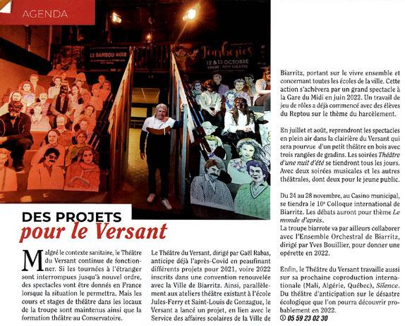 Théâtre du Versant - Biarritz - Projets festival colloque spectacles concerts