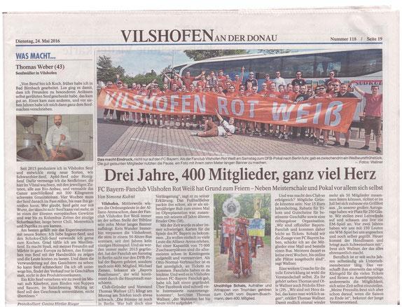 Vilshofener Anzeiger   24. Mai 2016