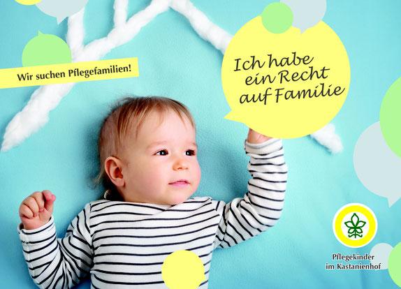 Das Kinderheim Kastanienhof sucht dringend Pflegefamilien.                               Grafik: Kastanienhof