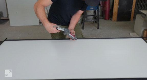 Tisch aus Beton selber bauen DIY
