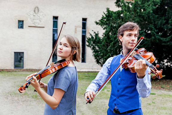 anna and nils play violin viola Kloster Gravenhorst