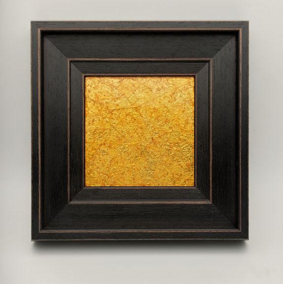 янтарная флорентийская мозаика, янтарь, сусальное золото, поталь