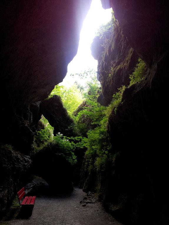 Der Ausgang der Höhle ließ uns nochmal staunen