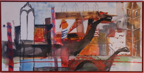 """Venedig"" 50x100 Acryl auf Leinwand 2008"