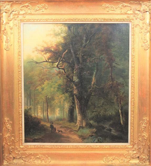 te_koop_aangeboden_een_bosgezicht_van_nederlandse_kunstschilder_barend_hendrik_koekkoek_1849-1909