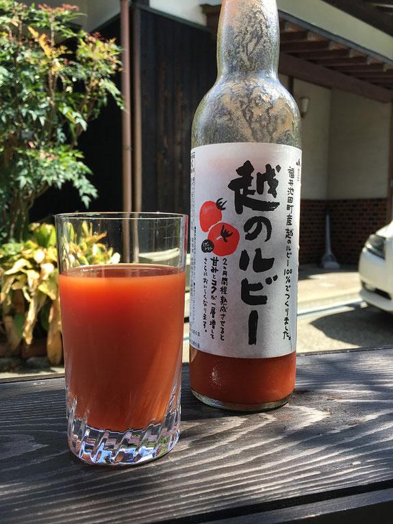 越のルビーのトマトジュース