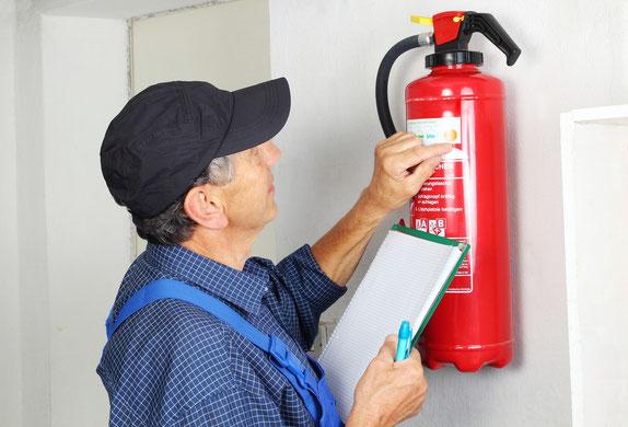 Durchführung von Brandschutzkontrollen