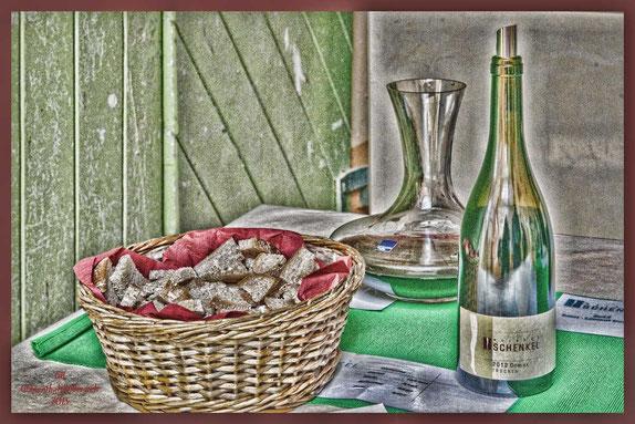"""Schwabenheimer Weinsommer bei Weingut Schenkel. Flascheninhalt """"Domina trocken 2012"""""""
