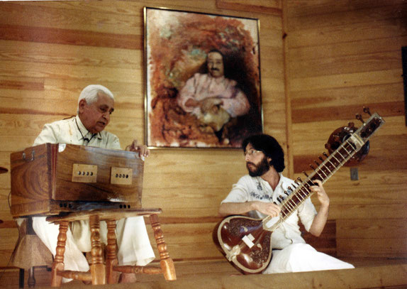 Late 1970s - Michael accompaning Adi K. Irani at the Meher Center, Myrtle Beach, SC.