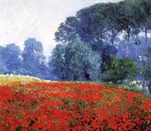 """Guy Rose, """"Campo di papaveri"""" (1910)"""