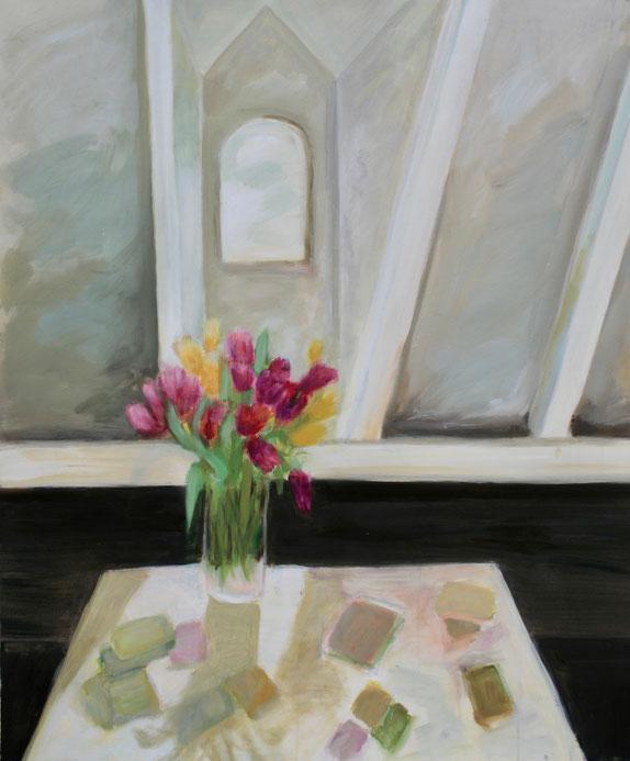 Atelier, 2018, Acryl auf Leinwand, 120x100