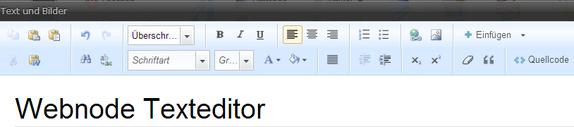 Webnode Textbearbeitung