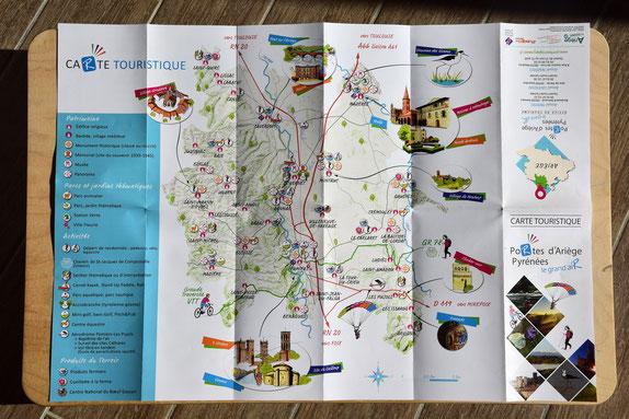 carte touristique, illustration, illustrée, Ariège