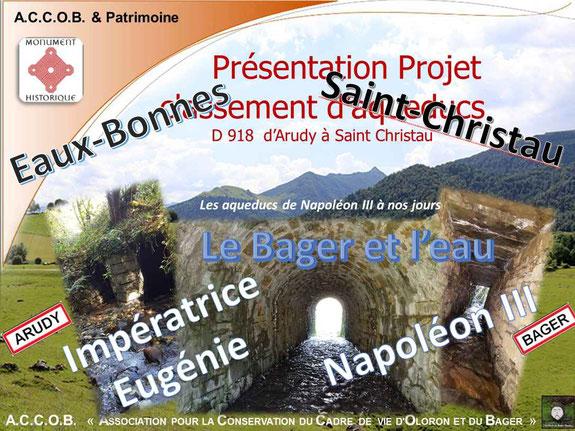 Randonnée Aqueducs au Bager d'Oloron avec Napoléon III et l'impératrice Eugénie - 5 juillet 2020 avec l'ACCOB d'Oloron