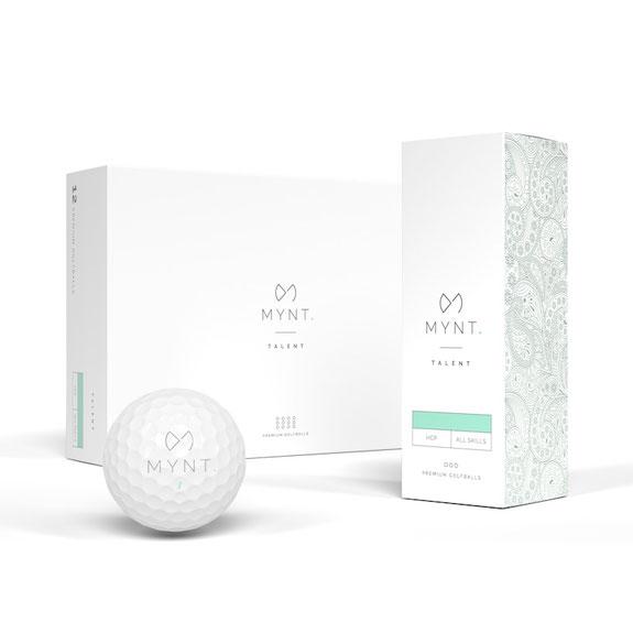 MYNT Talent Golfball 12er und 3er Verpackung Ball