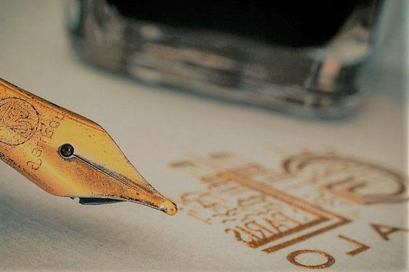 La gravure laser comme l'écriture