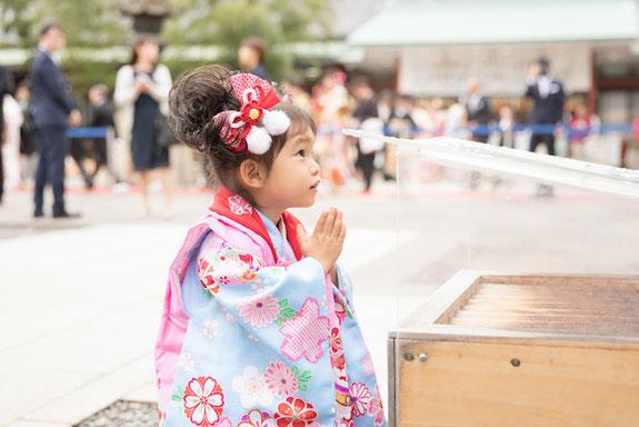 日枝神社 七五三 出張撮影カメラマン 女性カメラマン こども
