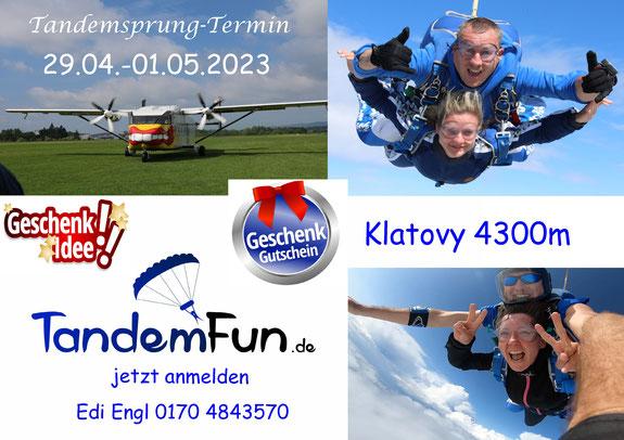 Fallschirmspringen Klatovy Tschechien - Termine 2021